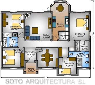 Planos de casas garajes y piscinas clasificados for Disena tu casa gratis