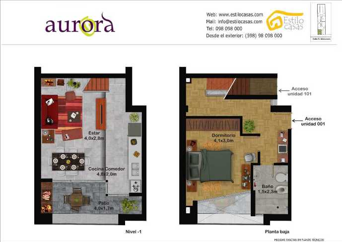 Apartamentos en pocitos parque rod clasificados for Plano habitacion online