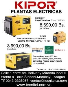 venta al mayor y detal de plantas electricas - clasificados
